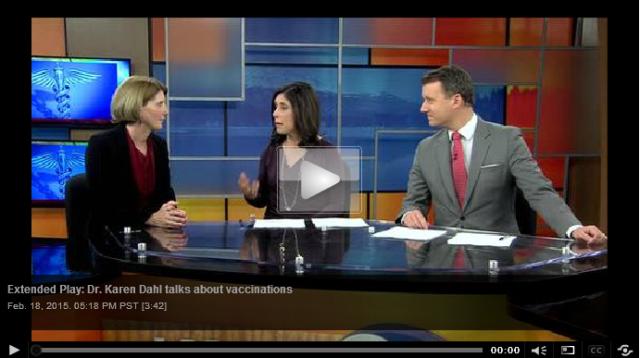 Dr. Karen Dahl talks about vaccinations
